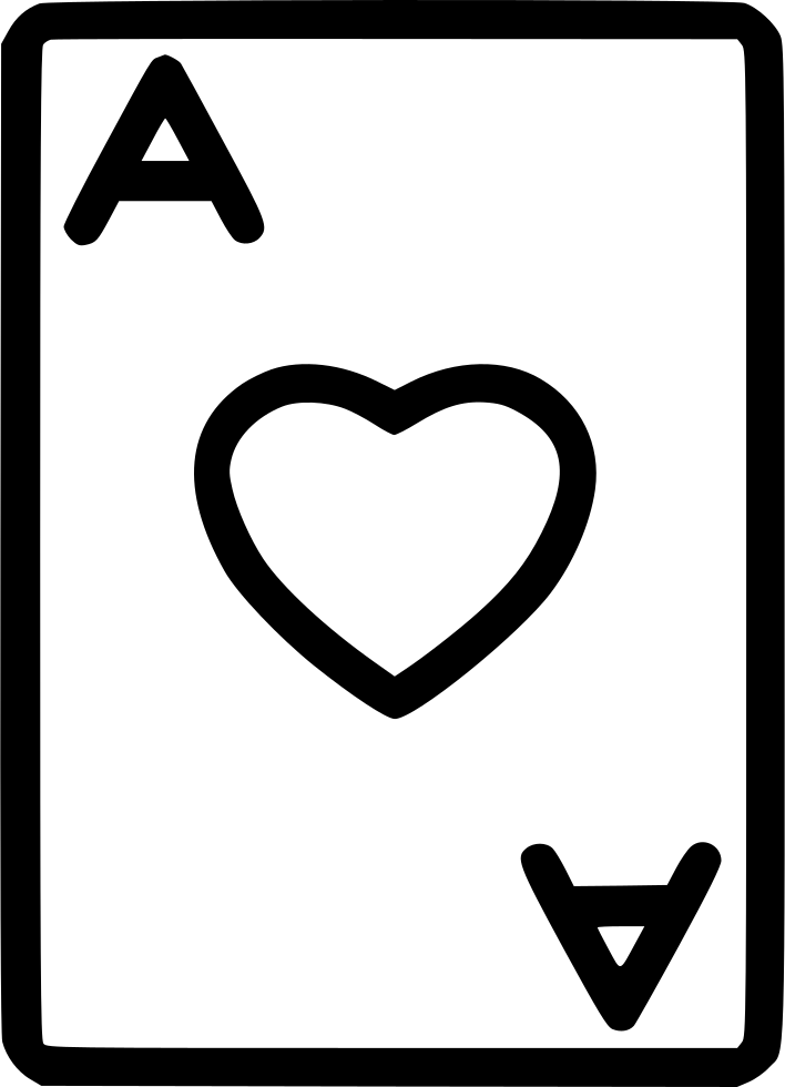 Poker Ace Heart Play Card Game