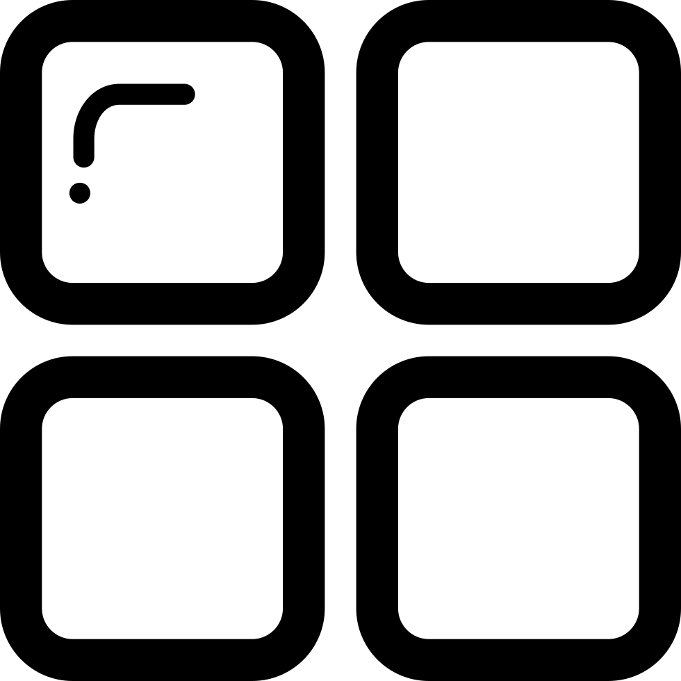 Button Of Four Tiles Squares Outlines