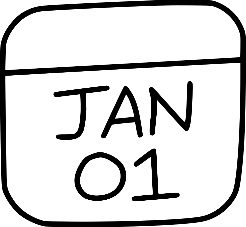 Calendar January New Year Date