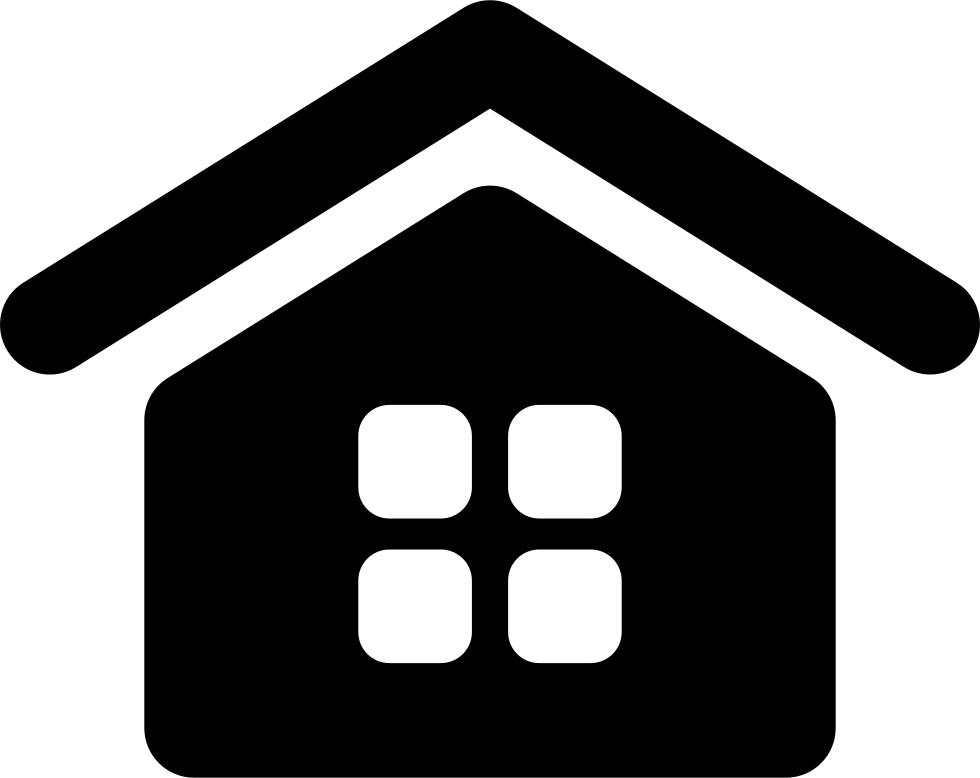 Home Interface Symbol With A Window Of Squares