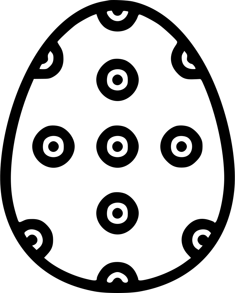 Egg Paschal Decorated Decoration Dots