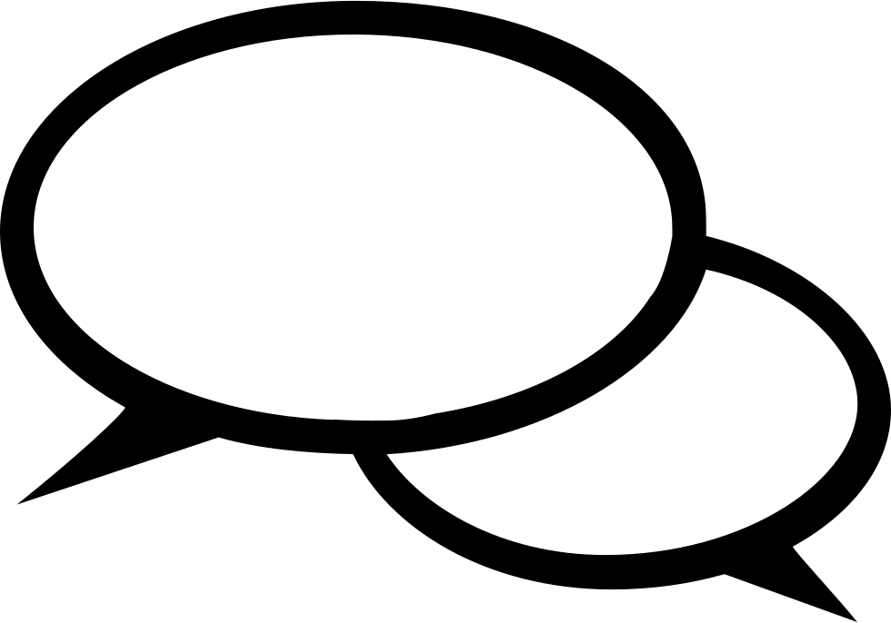 Couple Of Oval Speech Bubbles Chatting Interface Symbol ...