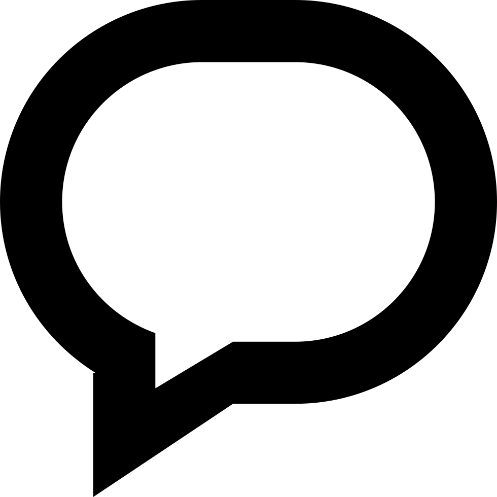 Oval Gross Outlined Speech Bubble Symbol