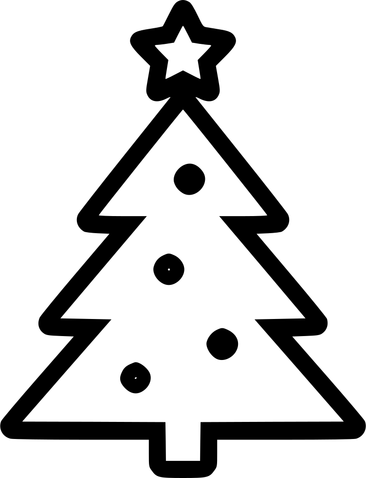 christmas new year tree svg png icon free download