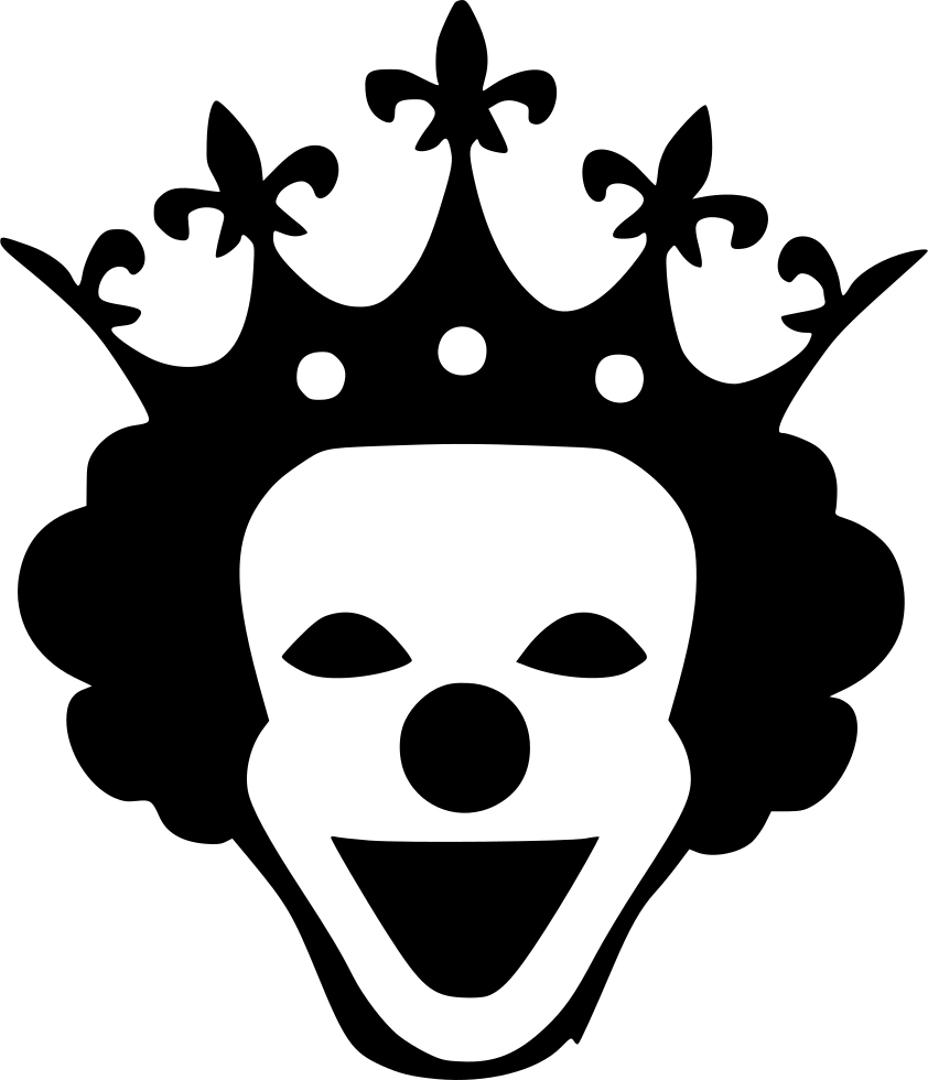 Horror Queen Mask Smile Crown