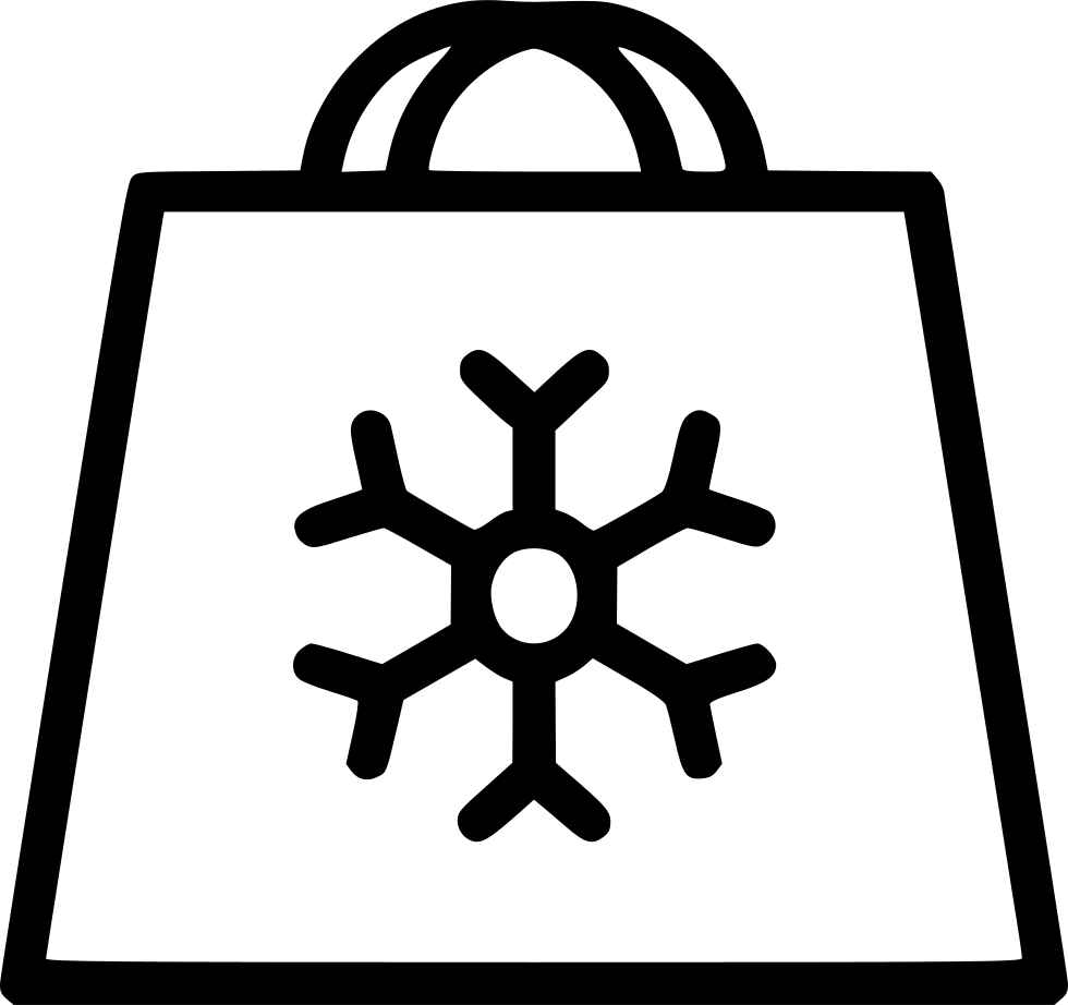 Bag Holiday Shoping Snowflake