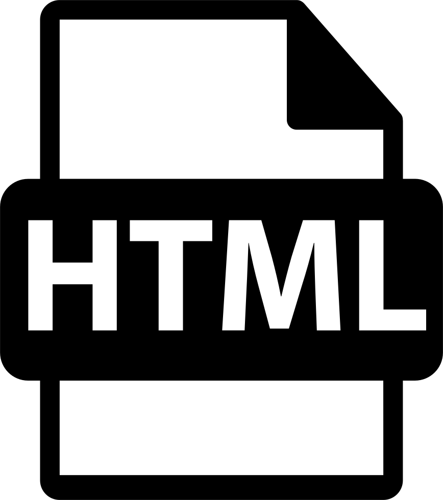 Html File Extension Interface Symbol