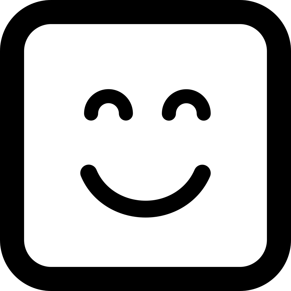 Emoticon Square Smiling Face With Closed Eyes