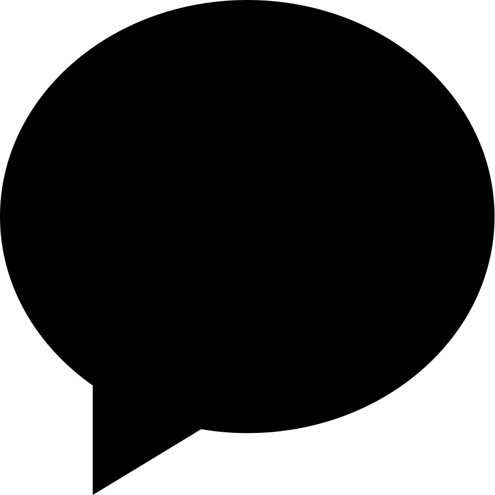 Black Oval Speech Bubble