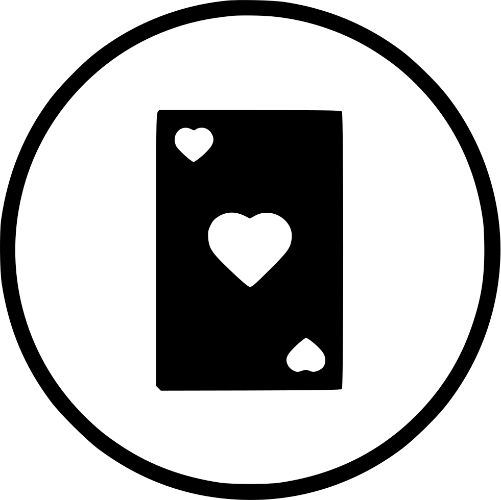 Card Heart Poker Casino Playing Gamble Blackjack