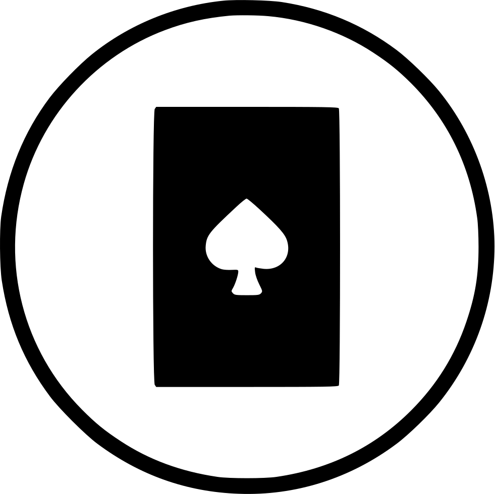 Card Spadepoker Casino Playing Gamble Blackjack