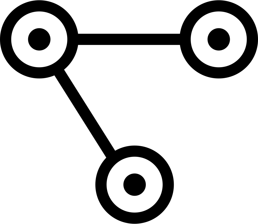 Interface Symbol Of Three Circles With Dots Inside Connected By Two Lines