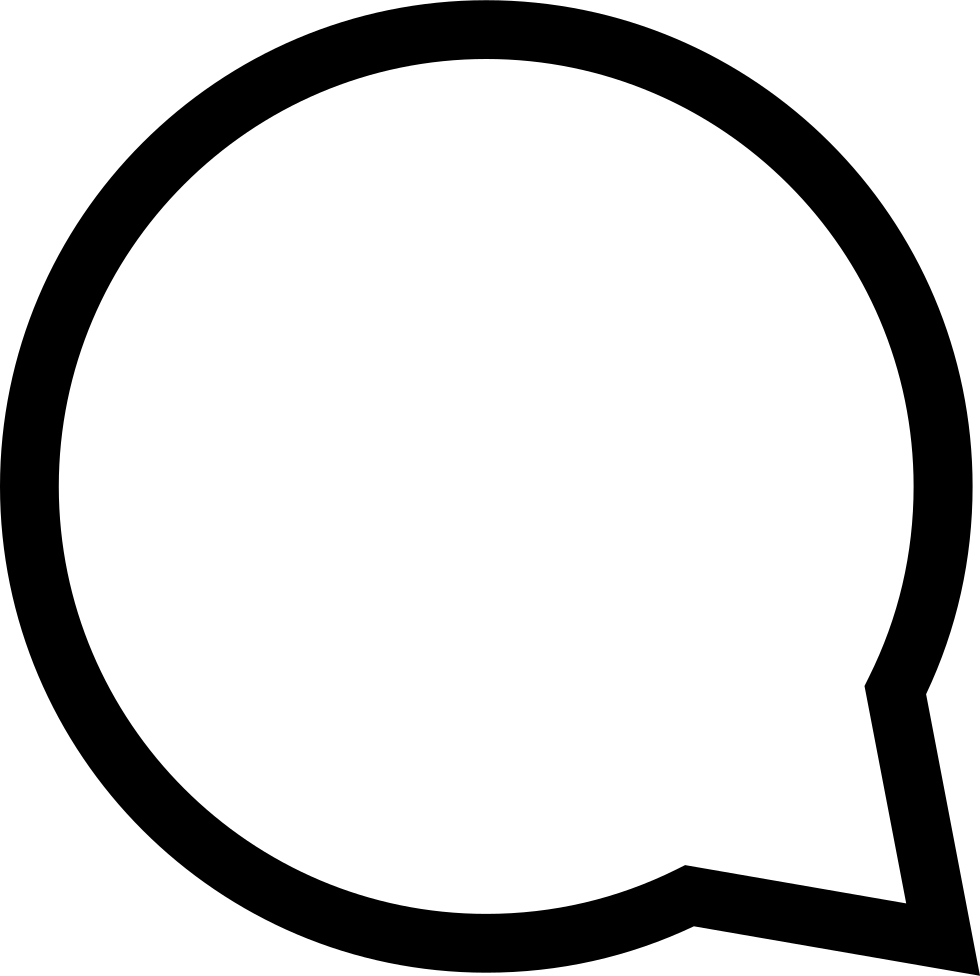 Circular Speech Bubble Outline
