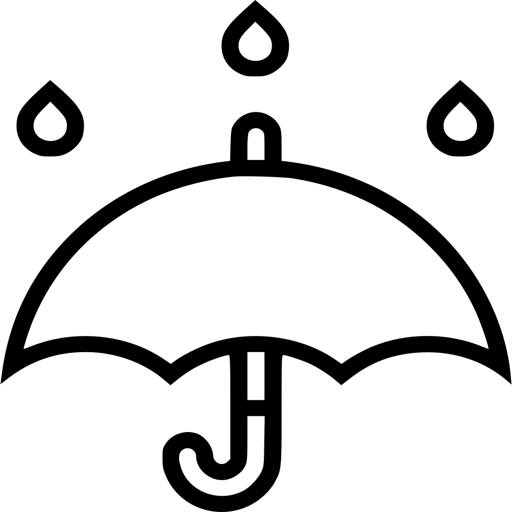 umbrella rain weather forecast svg png icon free download