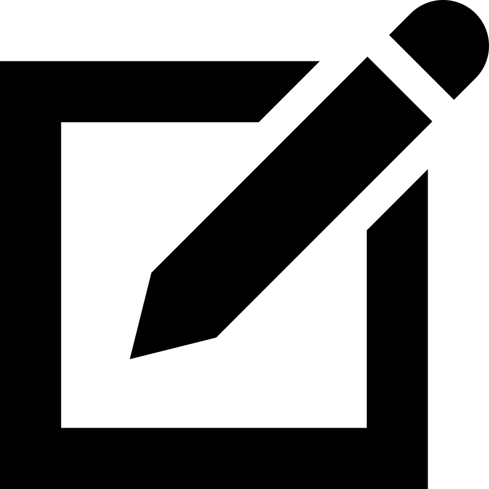 Pen On Square Of Paper Interface Symbol