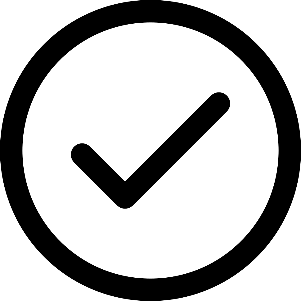 Accept Circular Button Outline