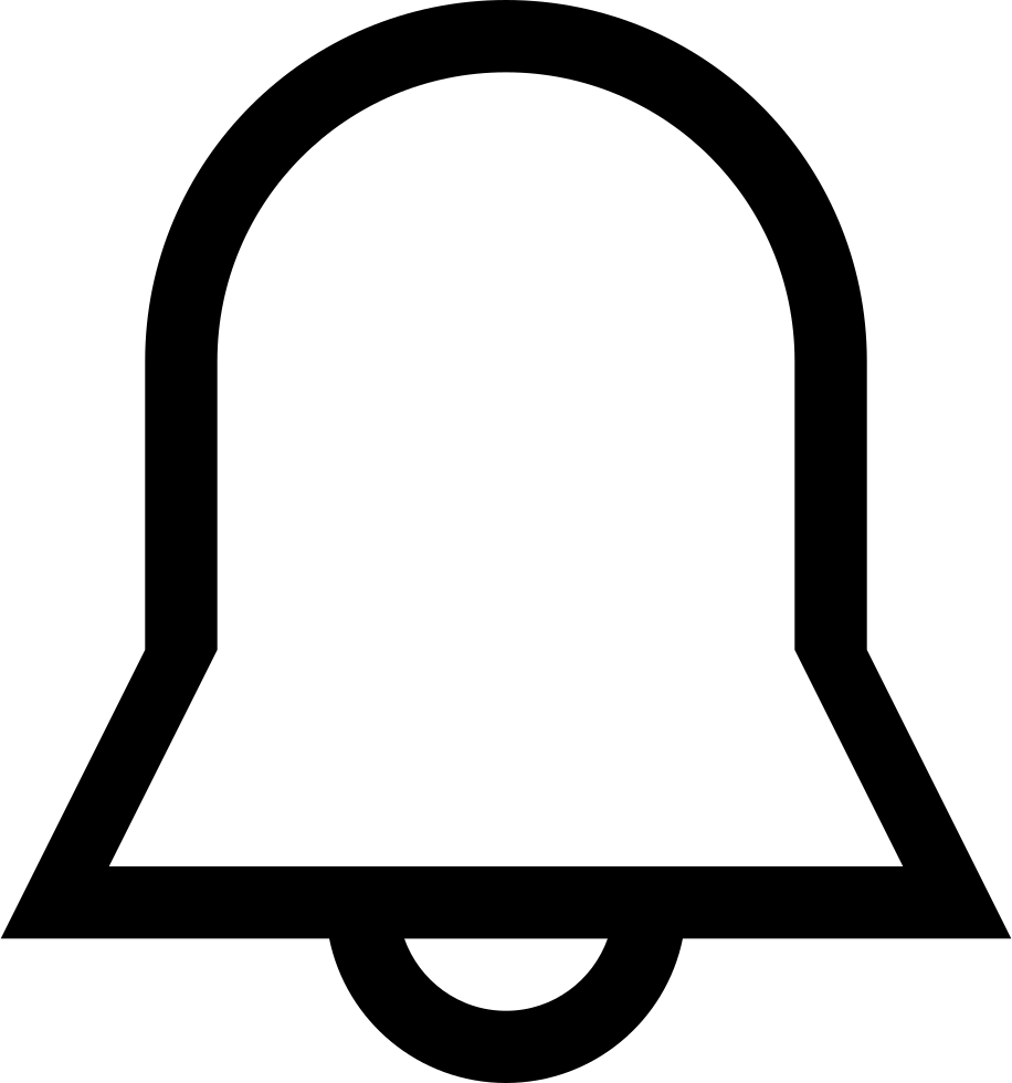 Notification Bell Outline Interface Symbol