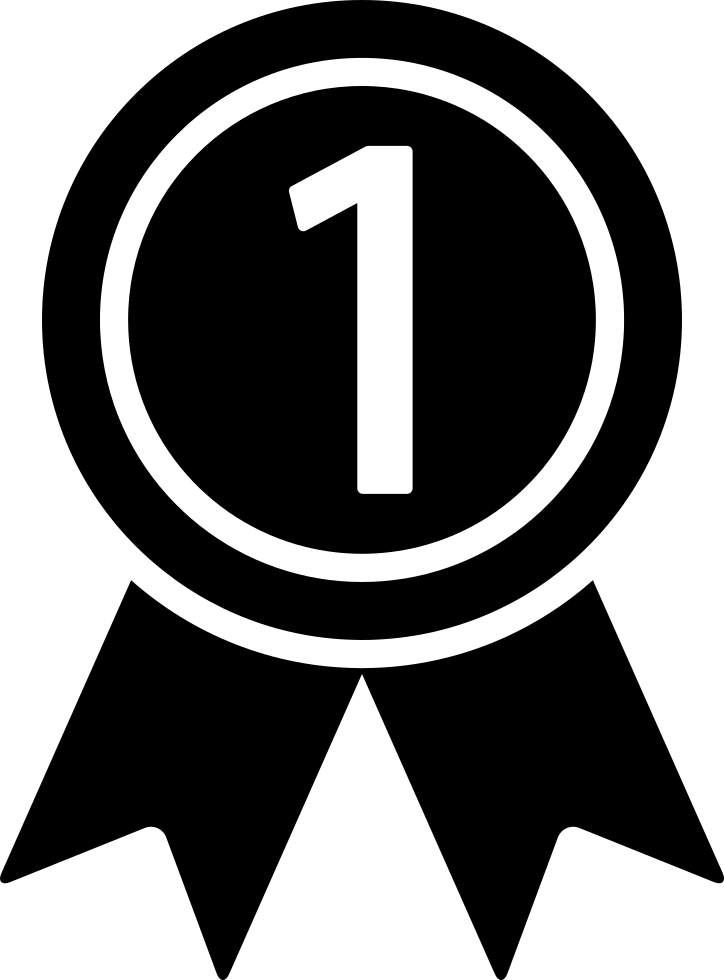 Medal On A Ribbon For Number One