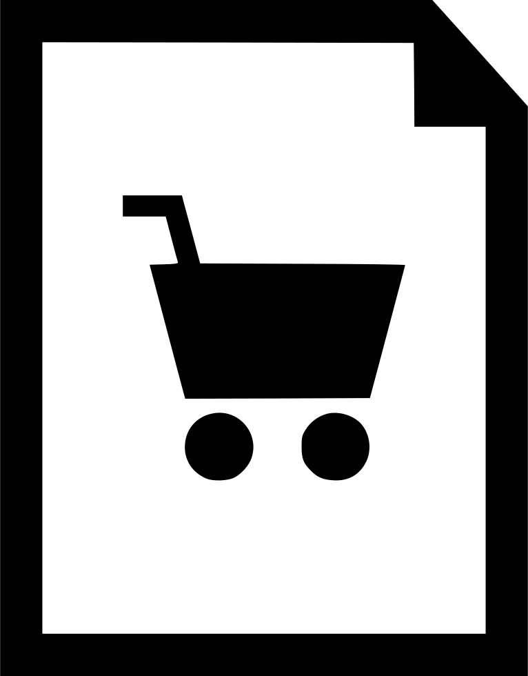 Shopping Cart Document Page Layout Idea Plan