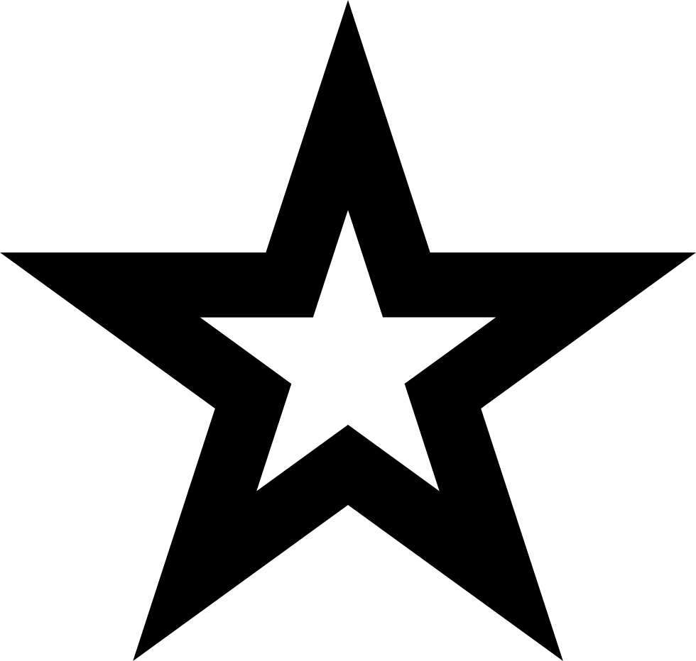 Star Outline Favorite Interface Symbol