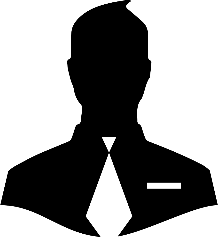 Male Close Up Silhouette With Tie