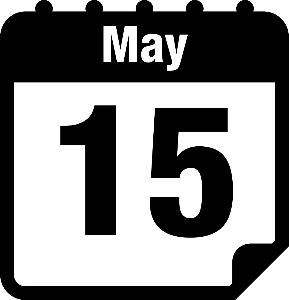 May 15 Calendar Page Interface Symbol