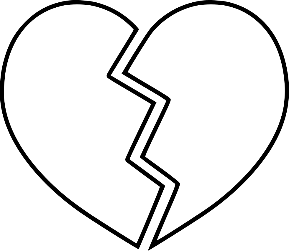 Broken Heart Svg Png Icon Free Download (#565789 ...