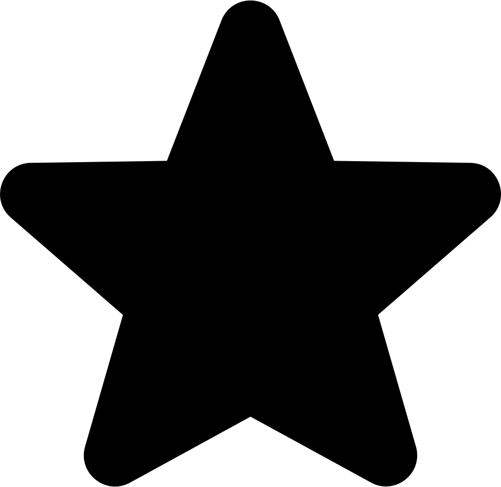 Star Filled Fiveointed Shape