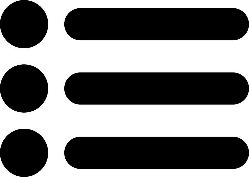 List Symbol Of Three Items With Dots