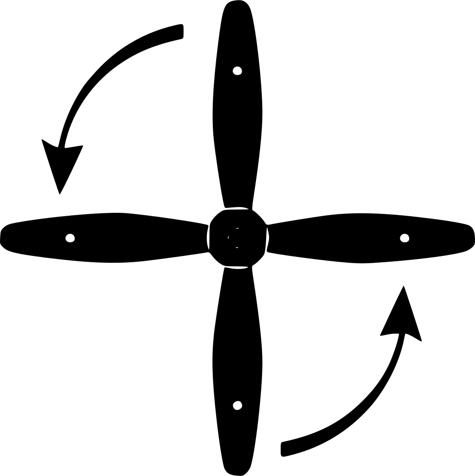 Airplane Rotate Arrows Engine Detail