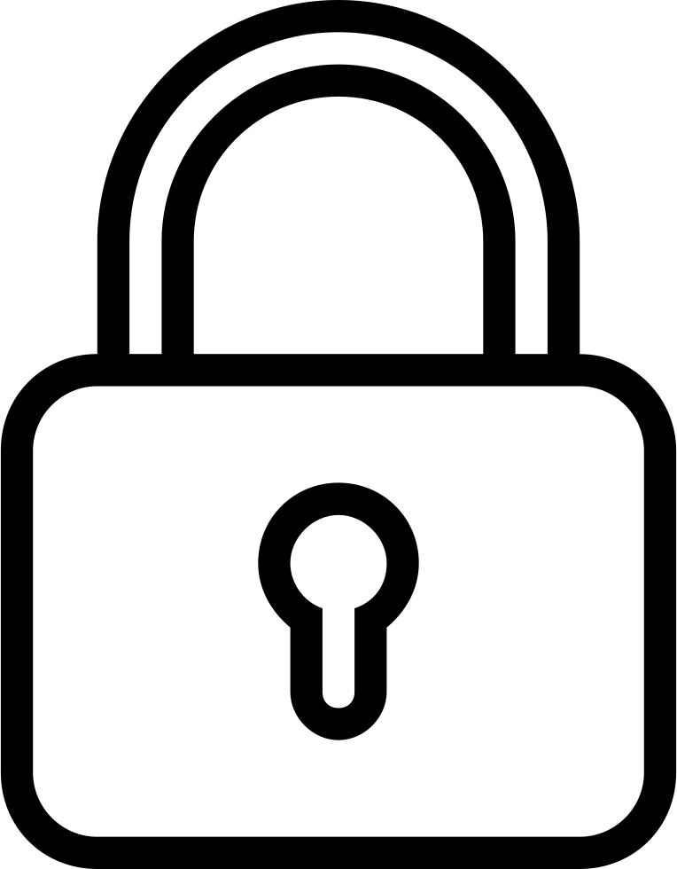 Lock Outlined Padlock Symbol For Security Interface