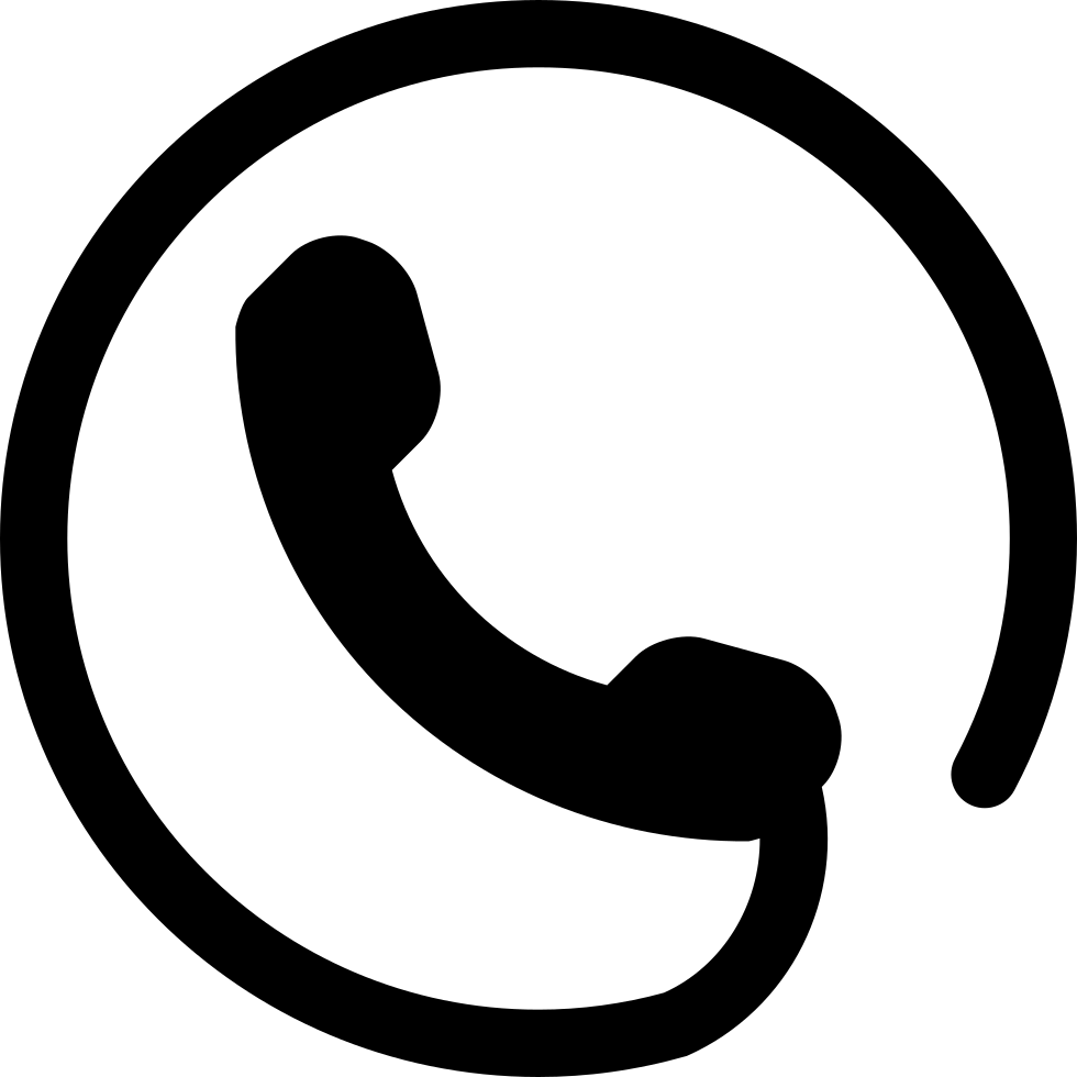 Phone Symbol Of An Auricular With Circular Cord Around