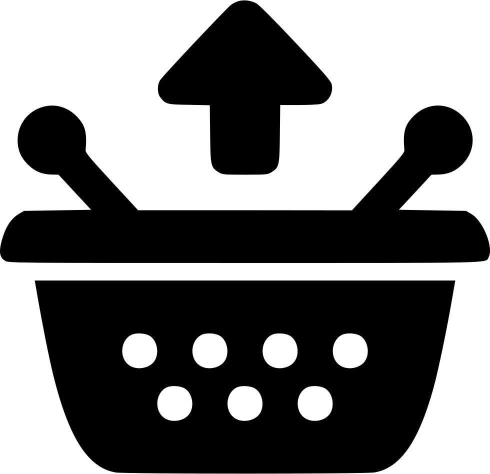 Shopping Basket Arrow Up