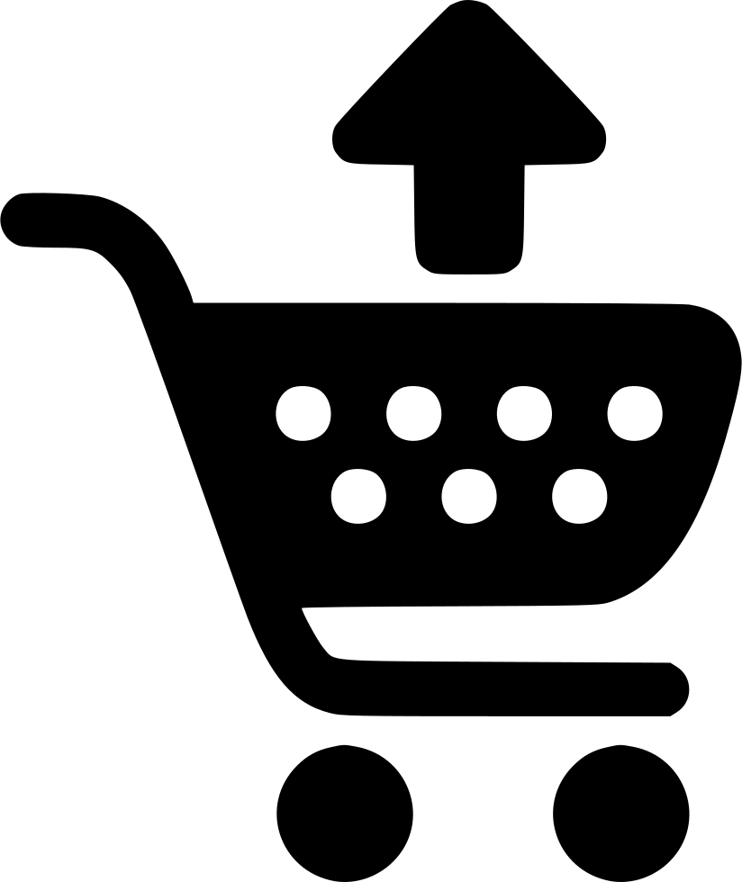 Shopping Cart Arrow Up