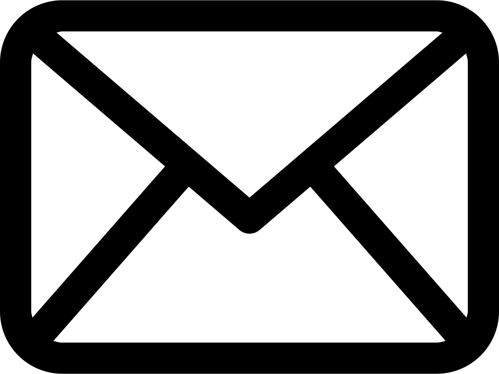 Email Envelope Outline Shape With Rounded Corners