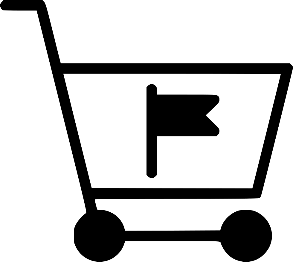 Cart Trolley Buy Flag Mark