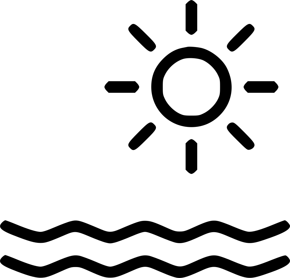 Sun Water Beach Holiday Ocean Svg Png Icon Free Download