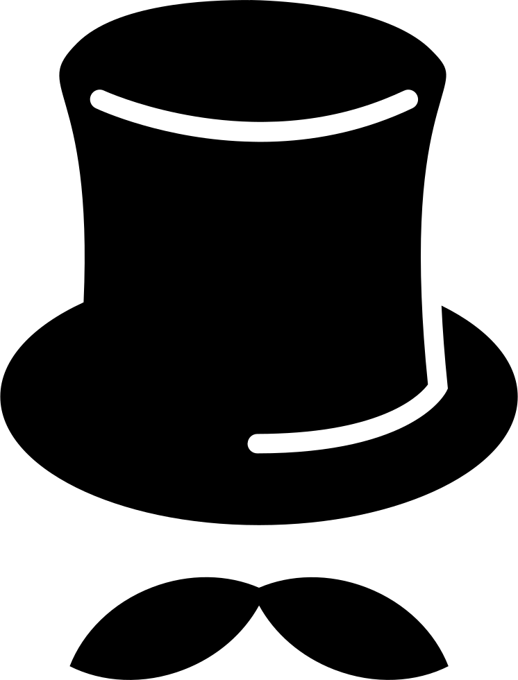 Tall Hat With Mustache