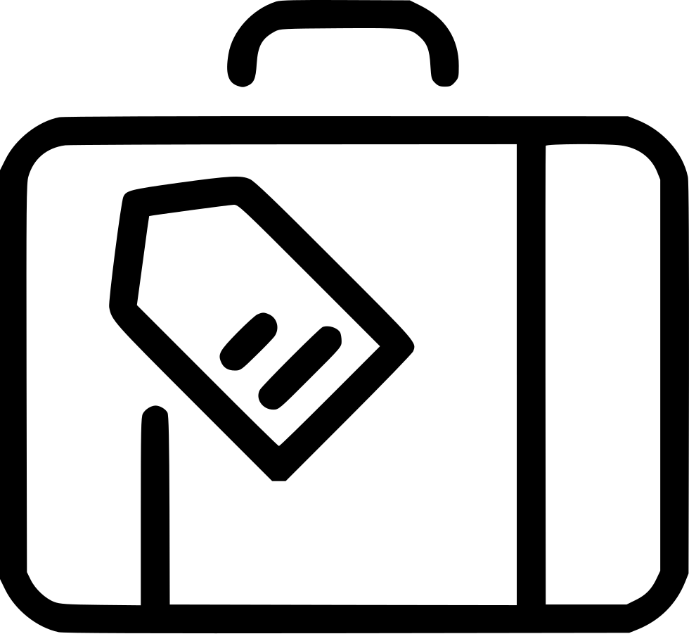 Suitcase Tag Travel Baggage Luggage Svg Icon Free Download Black Comments