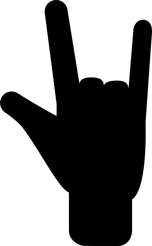 Hand Posture Signal Of Three Extended Fingers