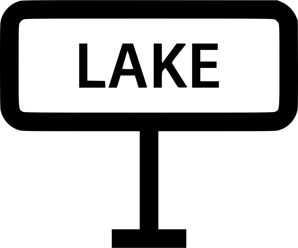 Lake Sign Visit Outdoor Outside