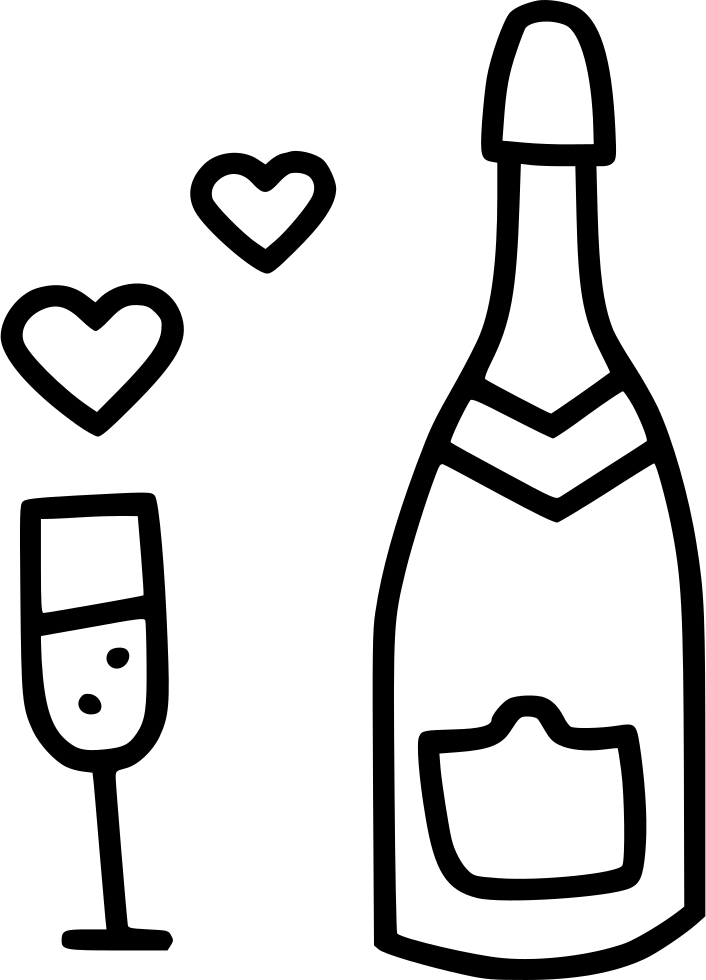 Champagne Heart Celebrate Day Date