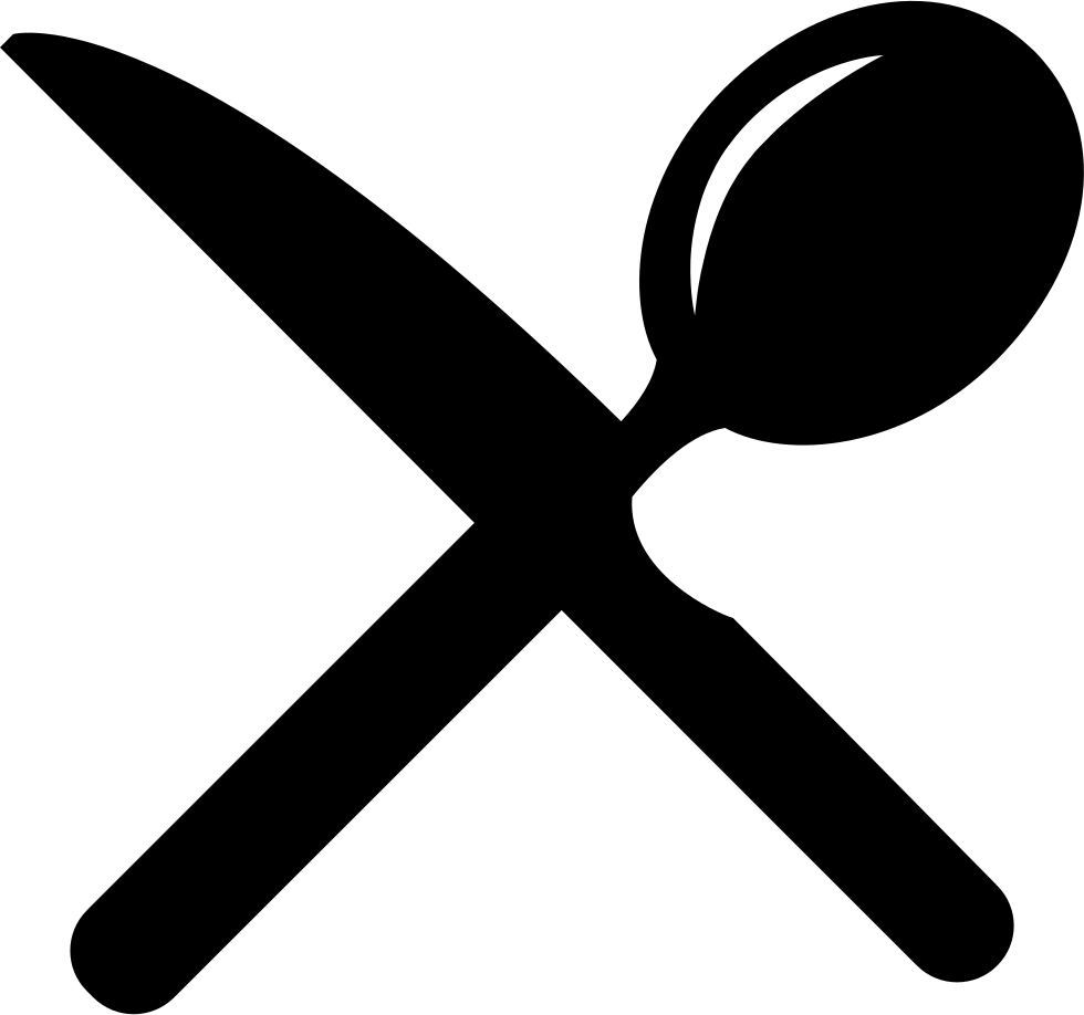Cutlery Cross Of A Knife And A Spoon