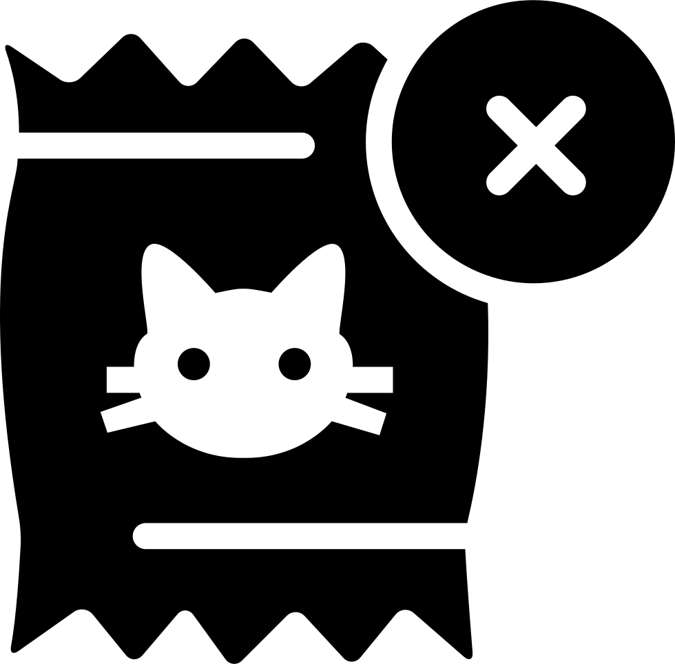 Cats Food Interface Symbol With A Cross