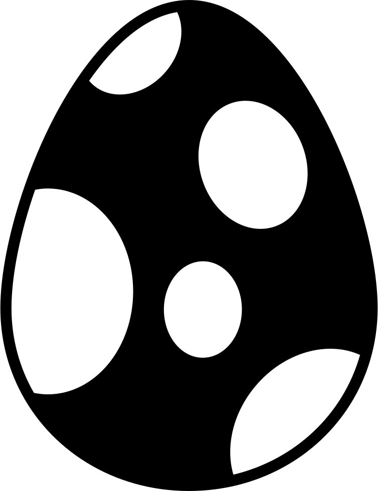 Easter Egg With Big Dots Design