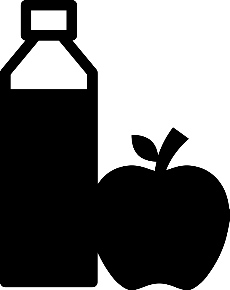 Juice Bottle And Apple