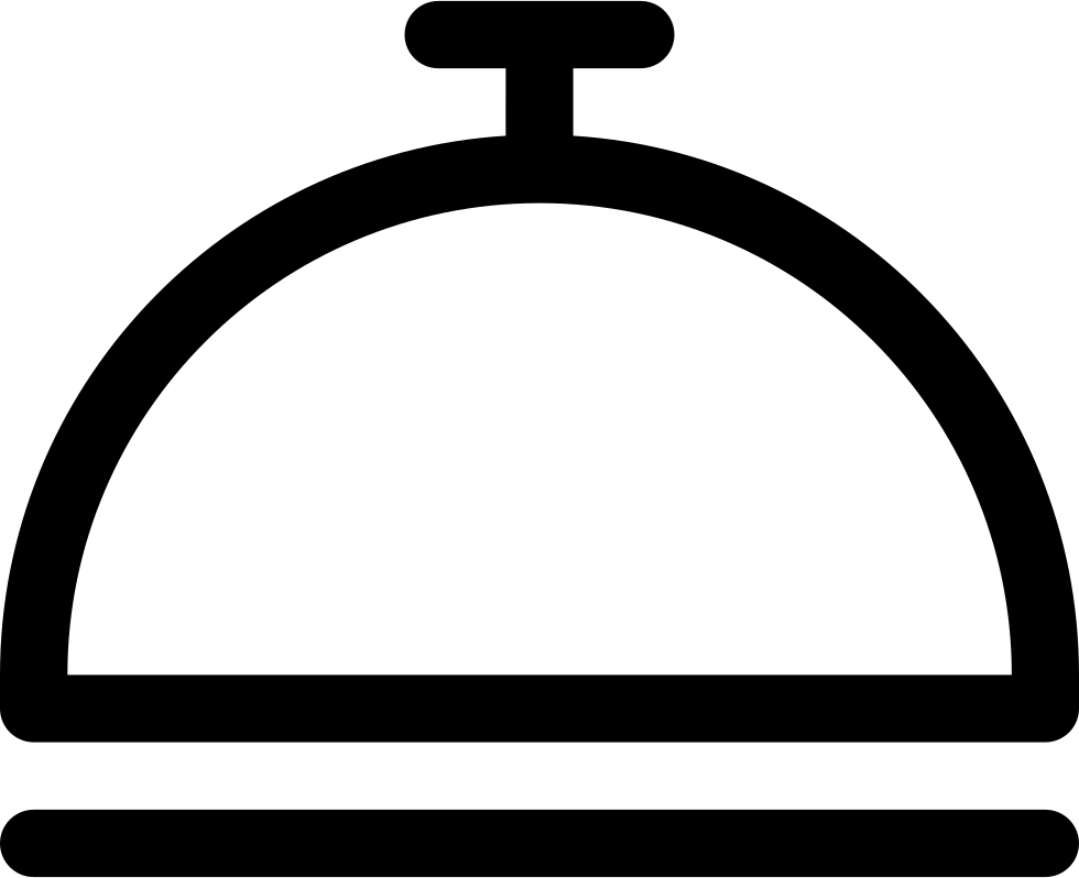 Tool Outline Of Hotel Reception Or Covered Food Tray