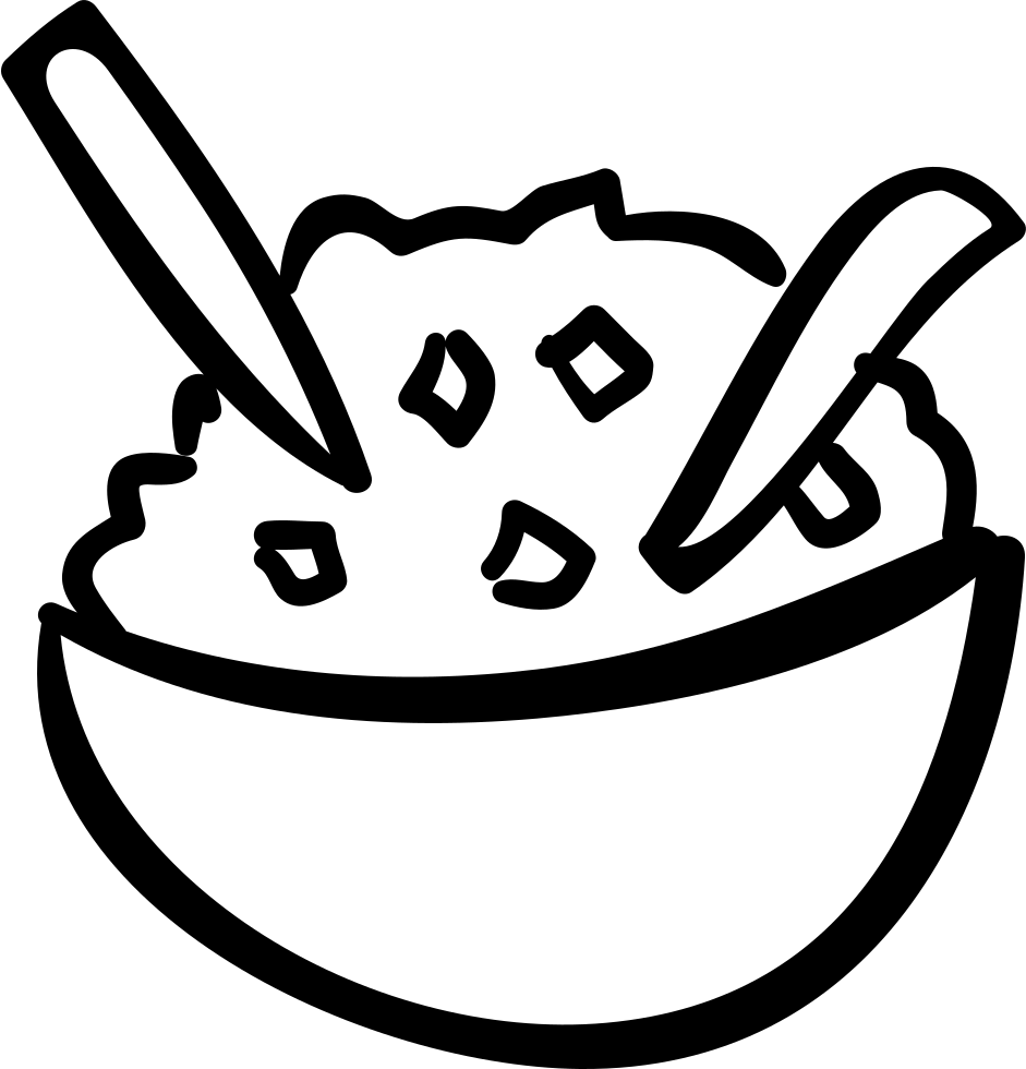 rice coloring pages for kids | Rice Bowl Svg Png Icon Free Download (#58781 ...