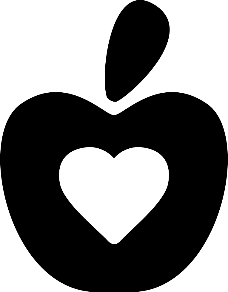 Healthy Food Symbol Of An Apple With A Heart