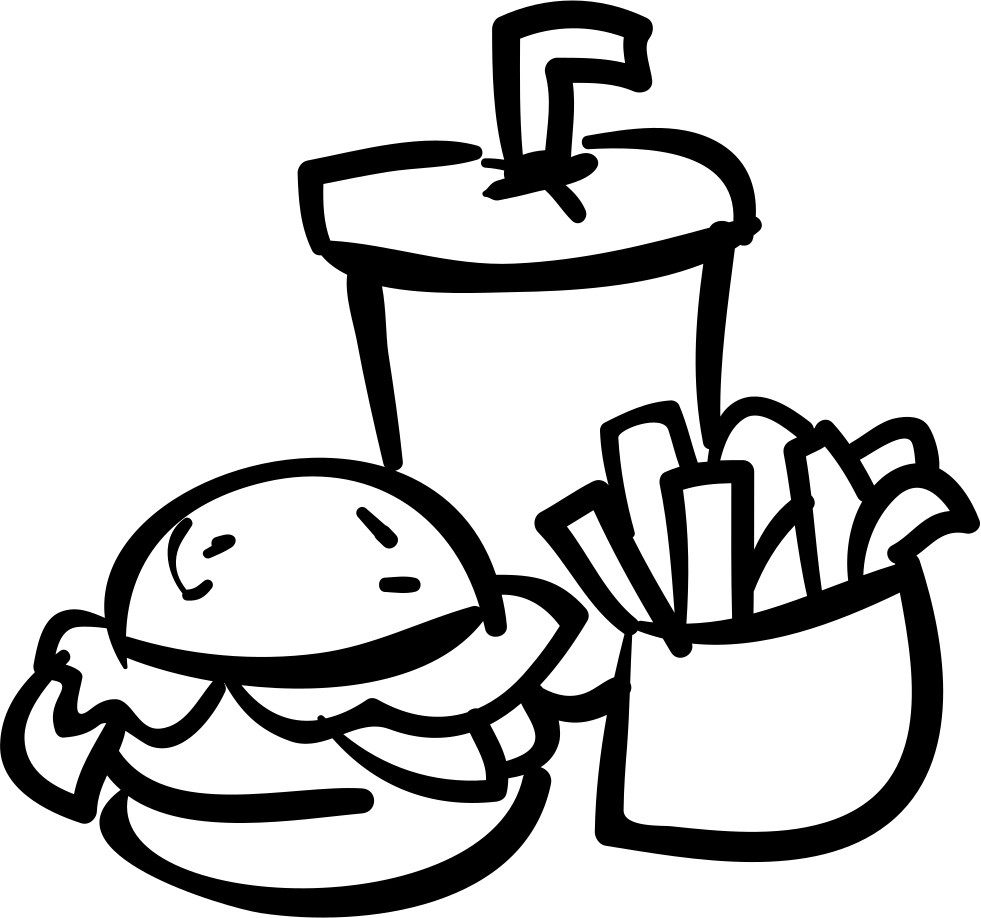 Fast Food Burger Drink And Fries Svg Png Icon Free ...